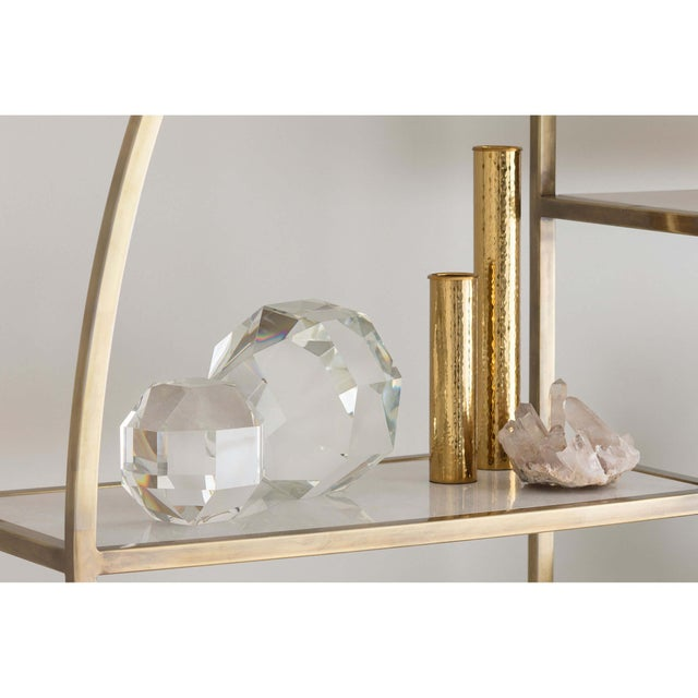 This crystal piece offers a touch of regal elegance and new romance to a range of décor styles.