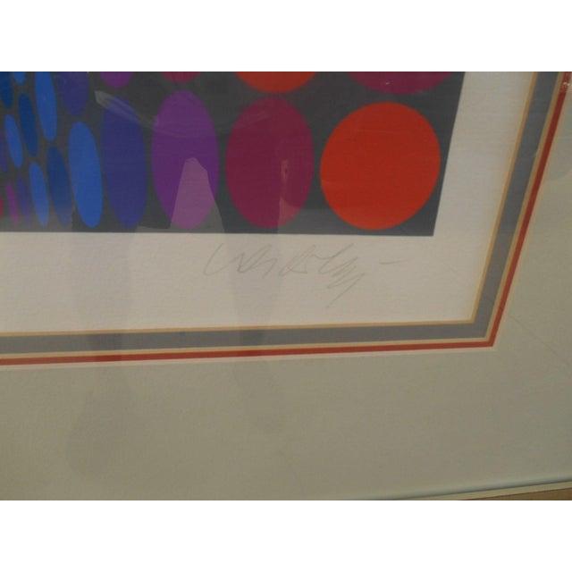 Victor Vasarely Op Art Silkscreen - Image 7 of 8