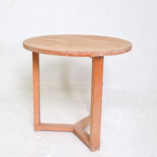Modern Teak Round Occasional Table Preview