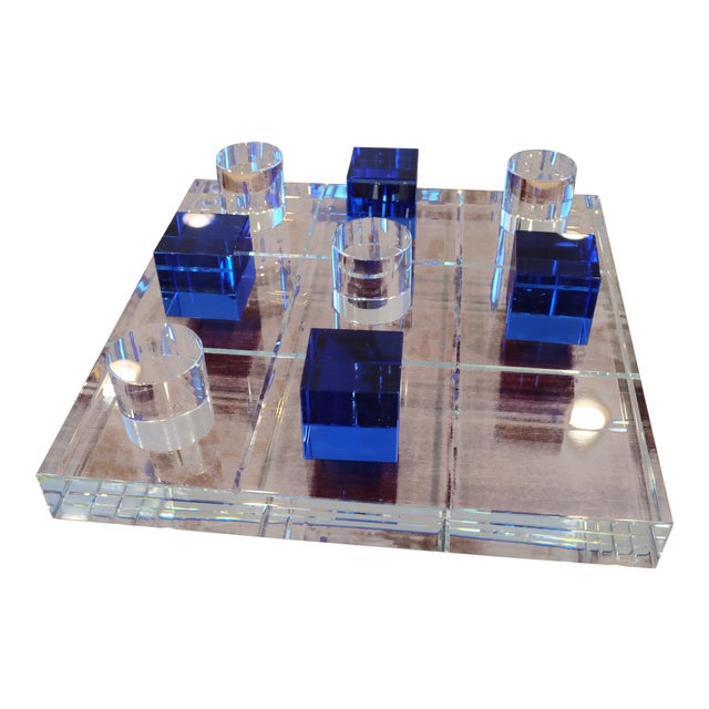 Modern Crystal Game Board For Sale