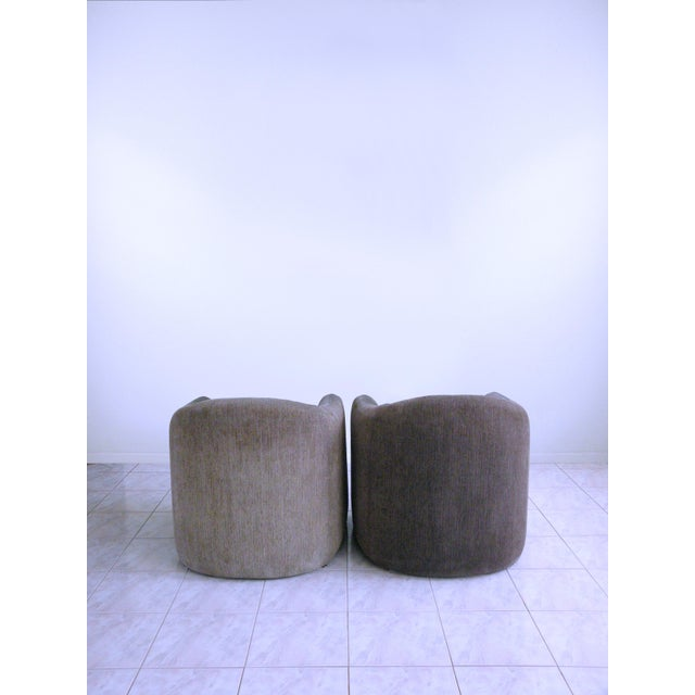 Contemporary Vladimir Kagan for Preview Biomorphic Freeform Minimalist Armchairs - a Pair For Sale - Image 3 of 11