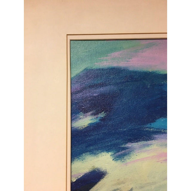 Jane Heller Vintage Mid Century Modern Abstract Expressionist Oil Painting For Sale - Image 10 of 11