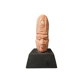18th-Century Angkor Sandstone Bust Sculpture For Sale