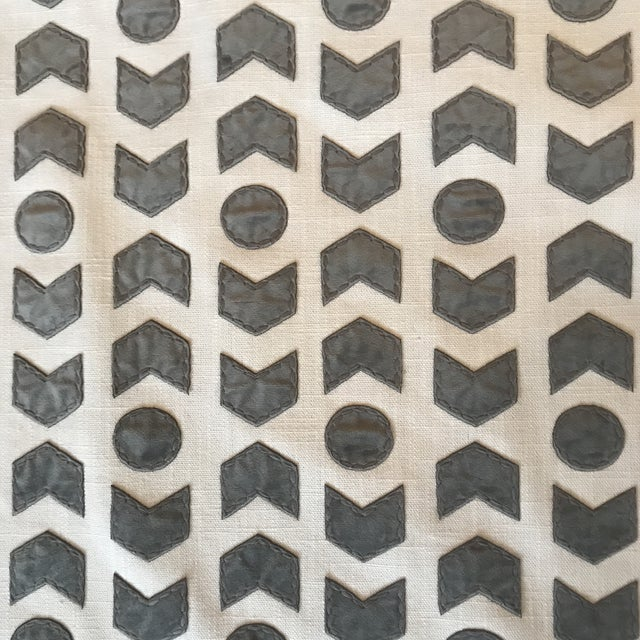 Romo / Zinc Arrowhead Fabric in Mercury - 2 1/2 Yards For Sale In Raleigh - Image 6 of 6
