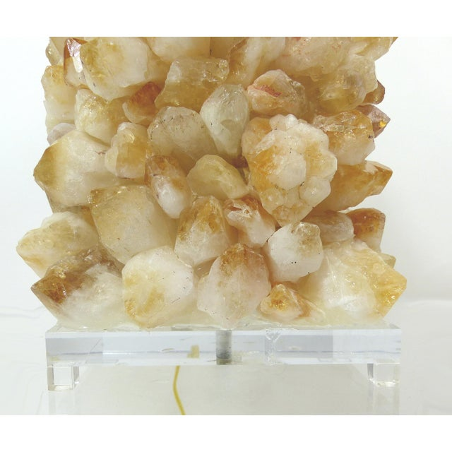 Quartz Rock Crystal Lamps - A Pair - Image 5 of 10