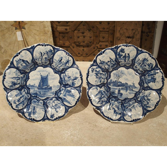 Pair of Antique Dutch Blue and White Faience Bowls, Early 19th Century For Sale - Image 12 of 12