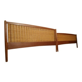 Hans Wegner Style Headboard and Footboard For Sale