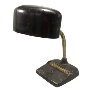 Art Deco Adjustable Black Desk Lamp 1950's Circa For Sale