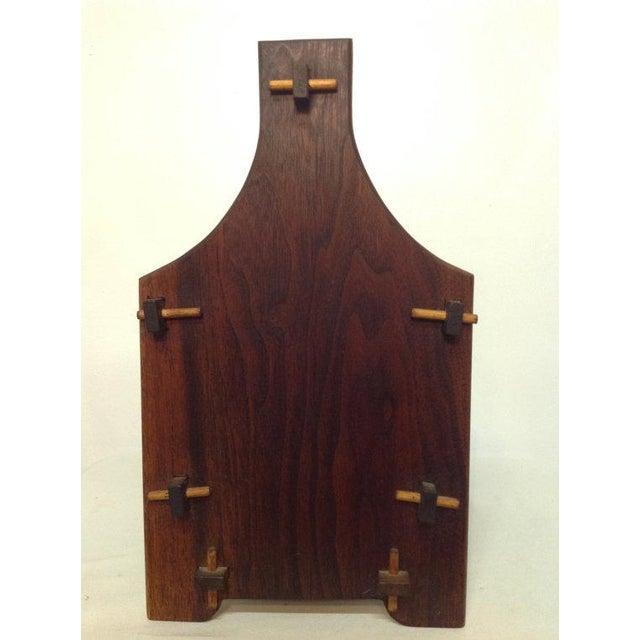Handmade Wooden Magazine Rack 1930s - Image 4 of 6