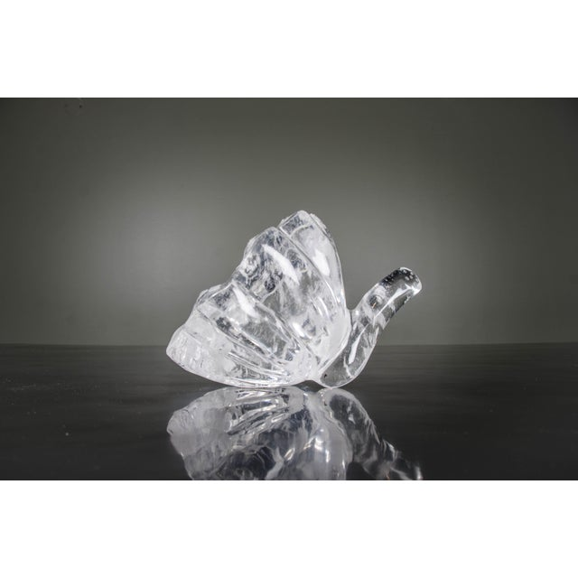Contemporary Lotus Bud Sculpture - Crystal For Sale - Image 3 of 4