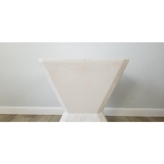 Vintage Postmodern Geometric Plaster Side Table For Sale In Miami - Image 6 of 13