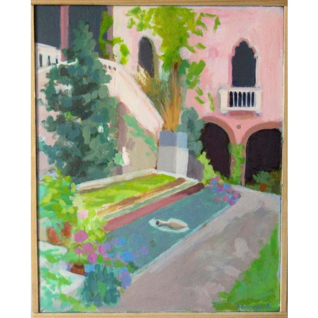 Courtyard at the Gardner Museum by Anne Carrozza Remick For Sale In Providence - Image 6 of 6