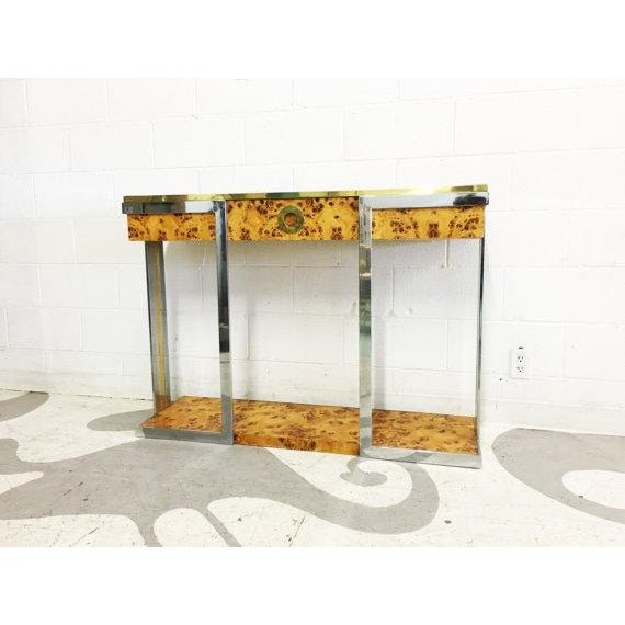 Willy Rizzo Burl Wood Console - Image 3 of 6