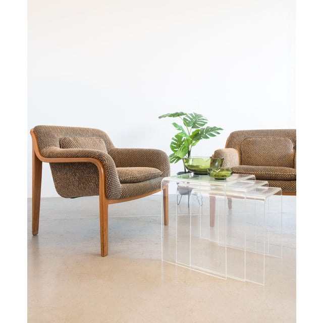 Mid-Century Modern 1970s Bill Stephens for Knoll Lounge Chairs - Set of 4 For Sale - Image 3 of 10
