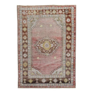 Pink Turkish Oushak, 3'9'' X 5' For Sale