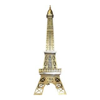Brass Encased Eiffel Tower Bottle Music Box