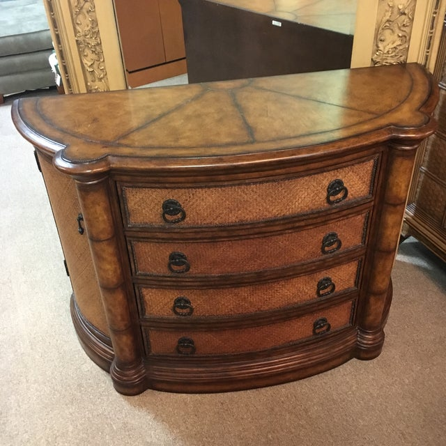 Maitland-Smith Leather Wrapped Console Table - Image 2 of 10