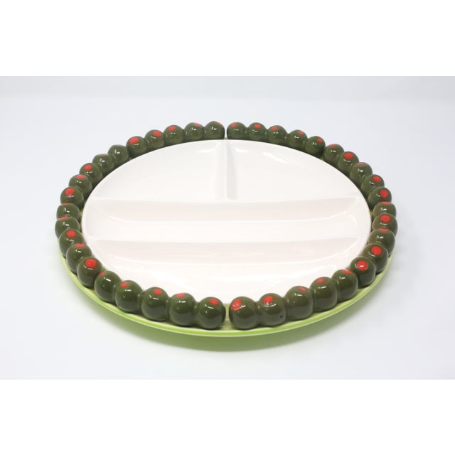 Vintage Olives Party Snack Platter by Shafford For Sale - Image 12 of 12