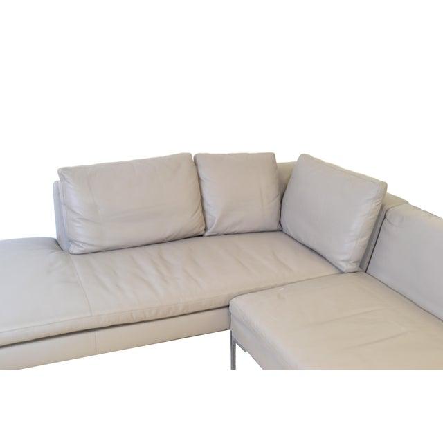 Original B & B Italia Leather Sectional Sofa For Sale - Image 9 of 10