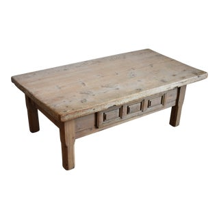 18th Century Swedish Farmhouse Coffee Table For Sale