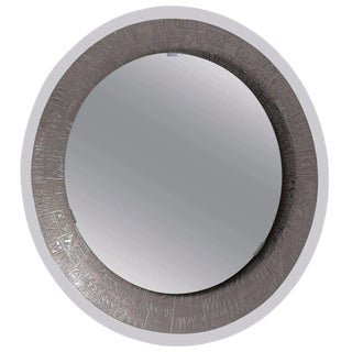 Furgieri Engraved Silver-Plate Mirror For Sale