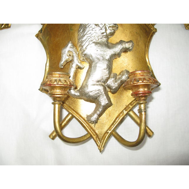 Antique Italian Shield Sconces - A Pair - Image 6 of 8