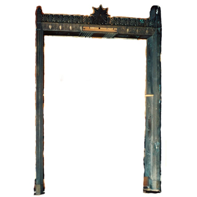 Art Deco Bronze/Brass Elevator Door Frame For Sale - Image 10 of 10