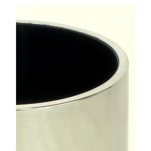 Dado Industrial Design S.p.A. Dado Industrial Design S.P.A Italian Chromed Heavy Steel Cylinder Vase For Sale - Image 4 of 5