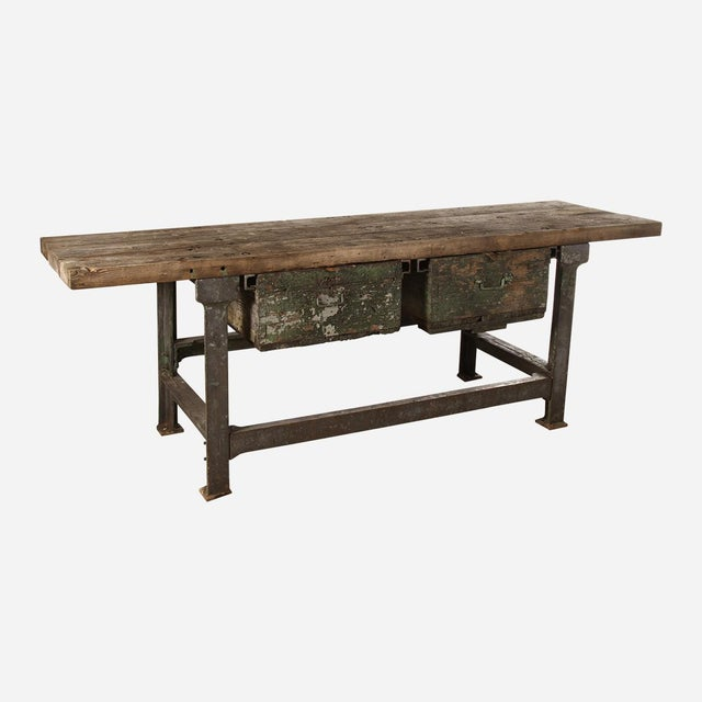 Industrial Work/Writing Table For Sale In Atlanta - Image 6 of 6