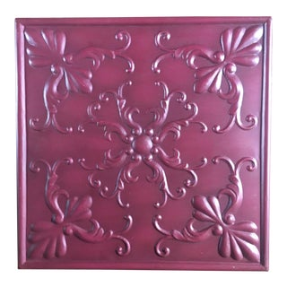 Tin Ceiling Panel Wall Hanging For Sale