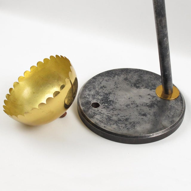 Willy Daro Style Modernist 1970s Brass and Cast Iron Umbrella Stand For Sale - Image 9 of 10