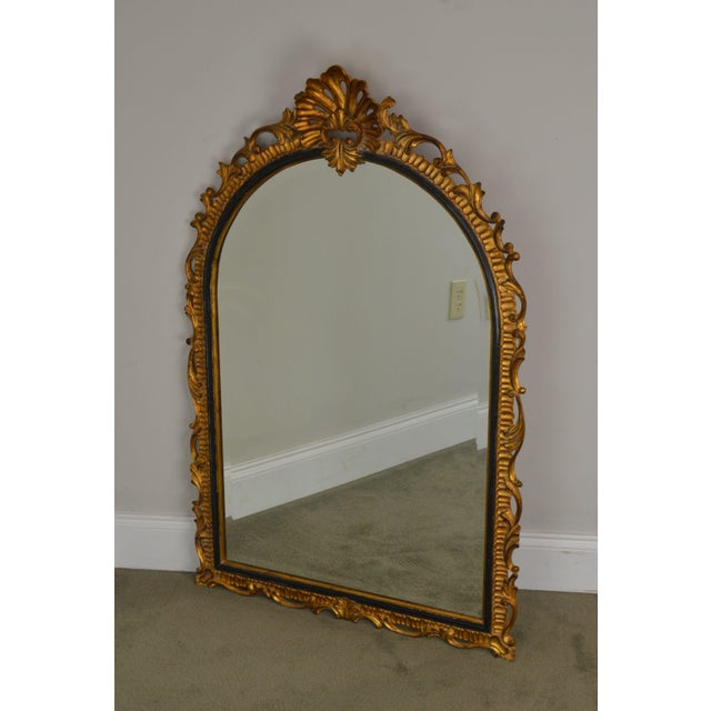Rococo Dauphine Harrison & Gil Gold Gilt Wood Rococo Carved Wall Mirror For Sale - Image 3 of 13