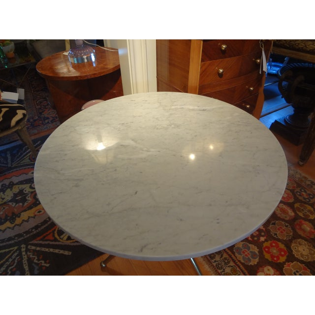 Italian Gio Ponti Inspired Brass and Marble Table - Image 5 of 8
