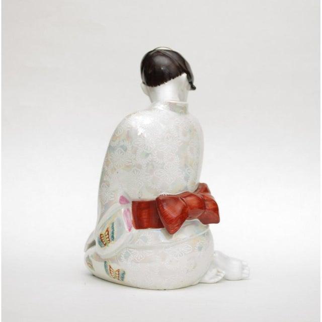 Asian 1950s Vintage Japanese Porcelain Sake Bottle or Figurine For Sale - Image 3 of 12