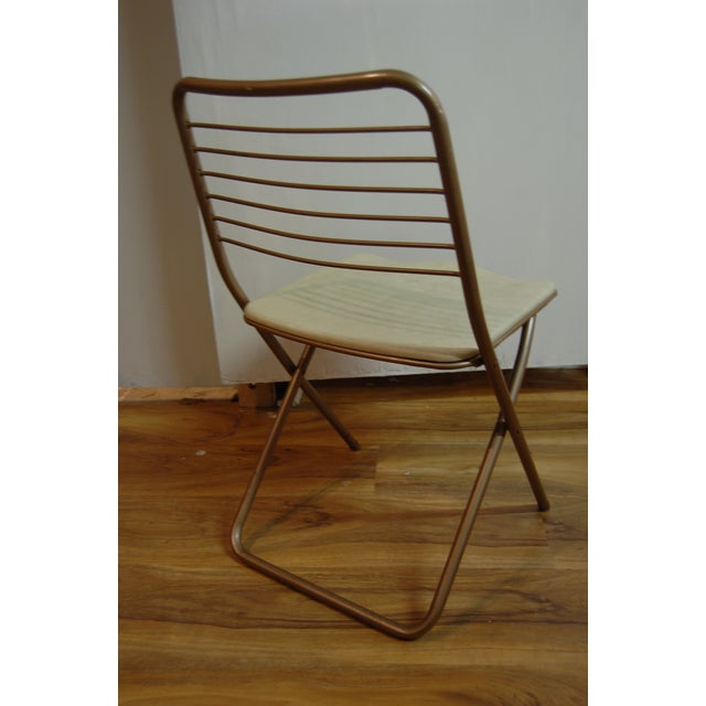 Vintage Stylaire Metal Folding Chairs - 4 For Sale - Image 5 of 9