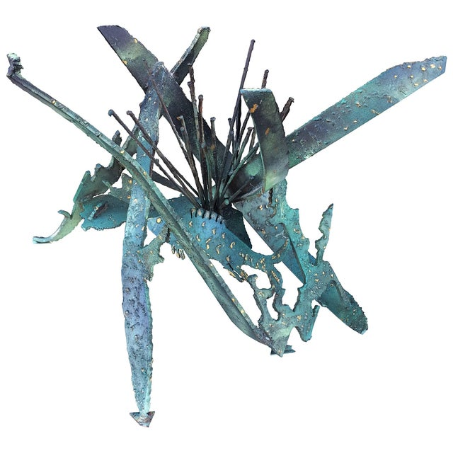 Silas Seandel Brutalist or Torch Cut Table Sculpture For Sale In Los Angeles - Image 6 of 6