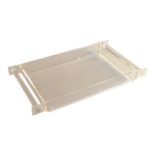 Mid-Century Chic Lucite Tray For Sale