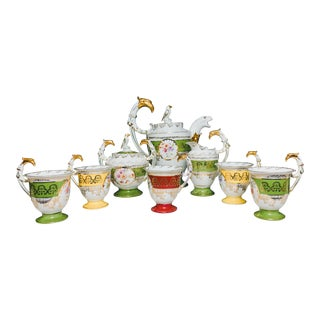 19th Century Rosenthal Parcel Gilt Coffee Set - 8 Pieces For Sale