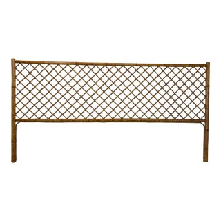 1970s Boho Chic Bamboo Headboard For Sale