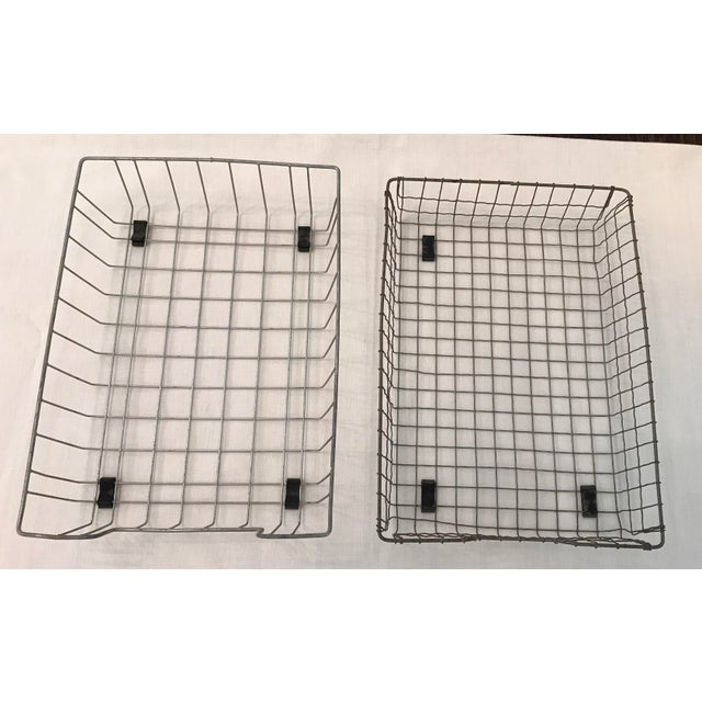 Vintage Wire File Baskets - A Pair - Image 2 of 10