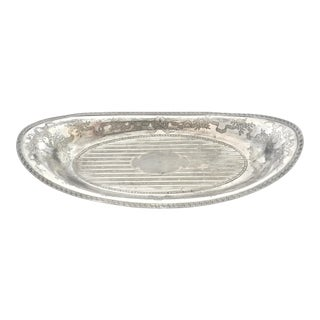 Antique Silver Oval Bowl