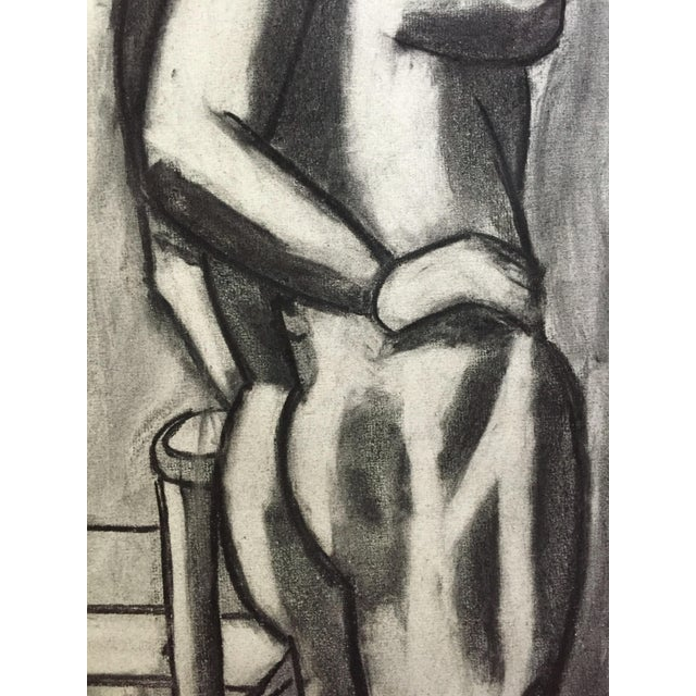 "Henry Woon Hand on Hip c. 1950's Charcoal on Strathmore Charcoal Paper 19"" x 25"", Unframed Signed Woon in pen on lower..."