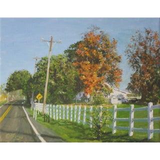 "Original ""Road Trim"" Oil Painting For Sale"
