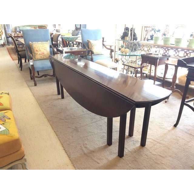 Brown Mahogany Georgian Style Gate Leg Dining Table For Sale - Image 8 of 10