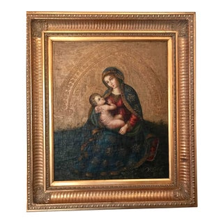 """Madonna and Child"" Painting For Sale"