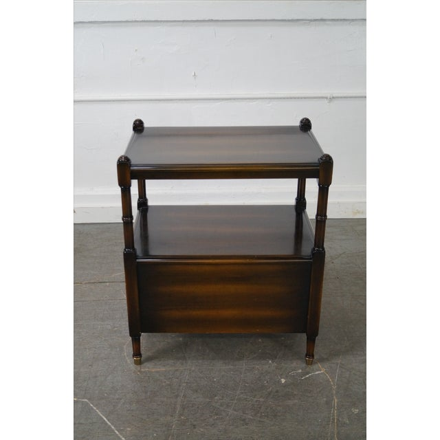 Regency-Style 2-Drawer Side Table - Image 4 of 10