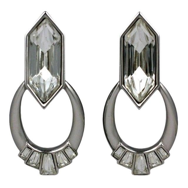 Ysl Jeweled Hoop Earrings For Sale