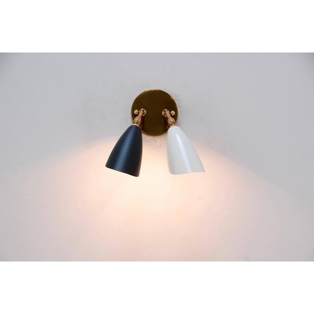 1950s Double Shaded Spot Light Sconces - Image 6 of 10
