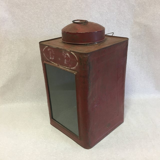 Antique Tin Container For Sale - Image 11 of 11