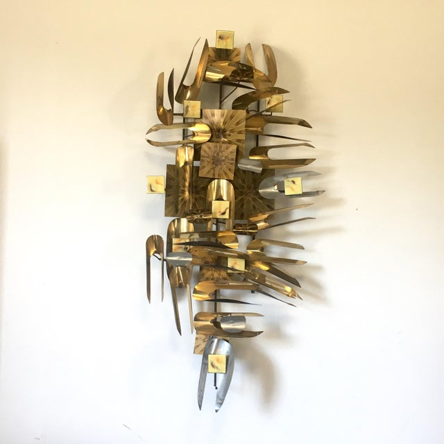 William Vose Mid-Century Brass Wall Art Sculpture For Sale - Image 11 of 12
